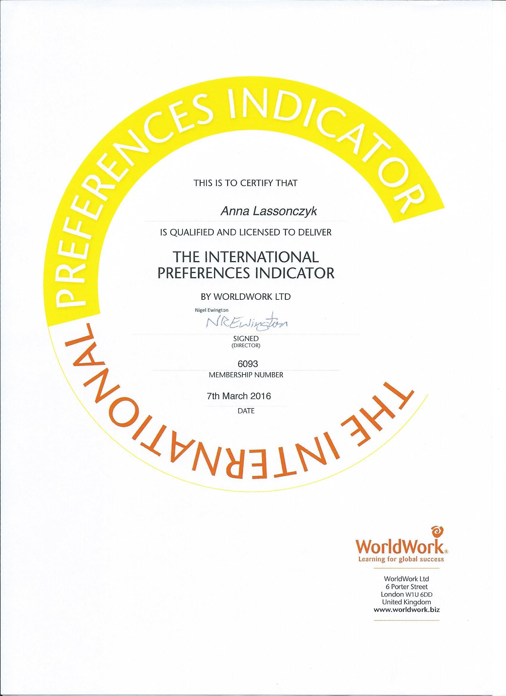 IPI licensed by WorldWokrs